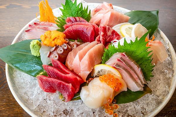 新鮮魚介刺身
